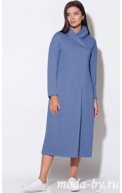 LeNata 11156 (темно-голубой) — платье