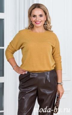 Блуза «Ангорка» горчичный