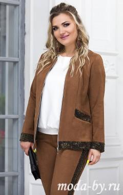 Жакет «Агата» светло-коричневый